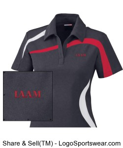 Ladies Performance Polyester Pique Color-Blocked Polo Design Zoom